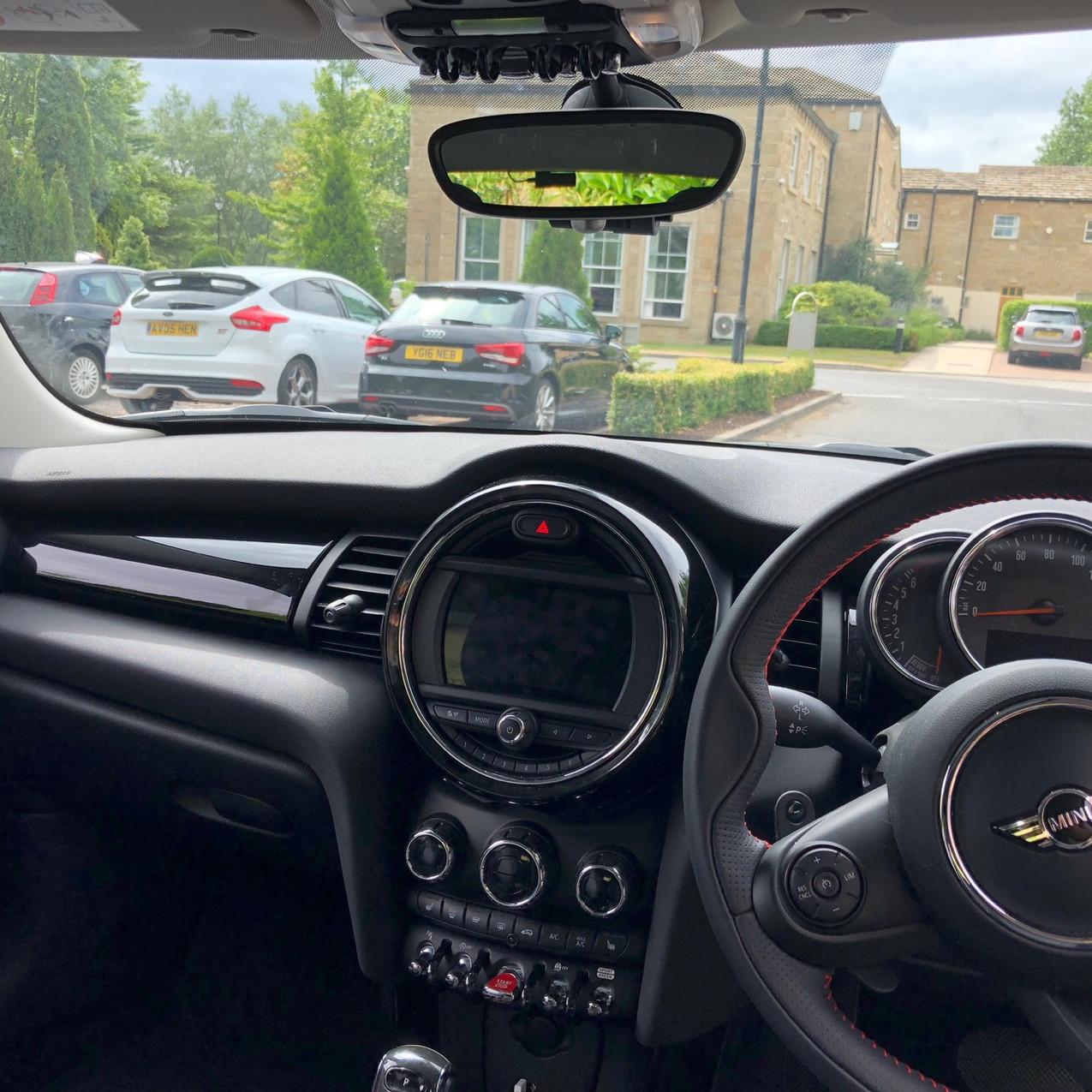 Goluk T3 Dashcam professional install in a Cherished Mini Cooper S