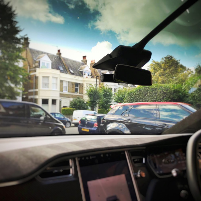 Tesla Model X Dashcam Installation Goluk T1 T3 Kingston upon Thames London