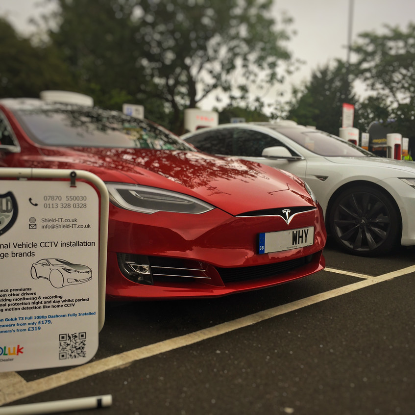 Goluk T1 & T3 Dashcam install into a Tesla Model S  Gordana Services Supercharger Somerset