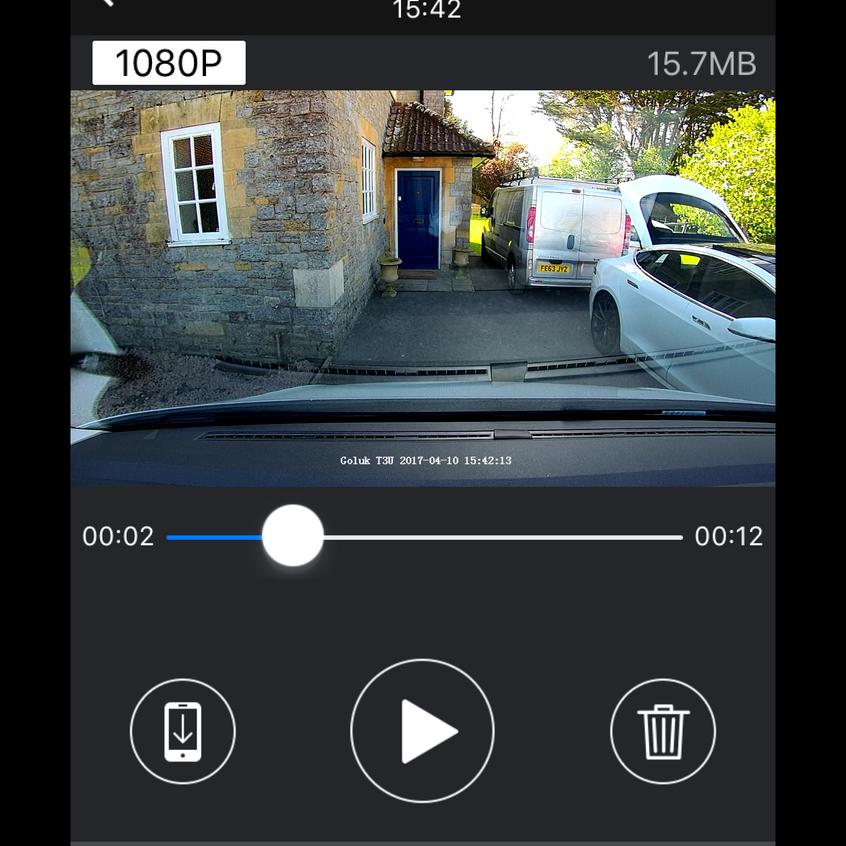 Goluk T3 Front Camera install in a VW T6 Camper - Goluk iPhone app.