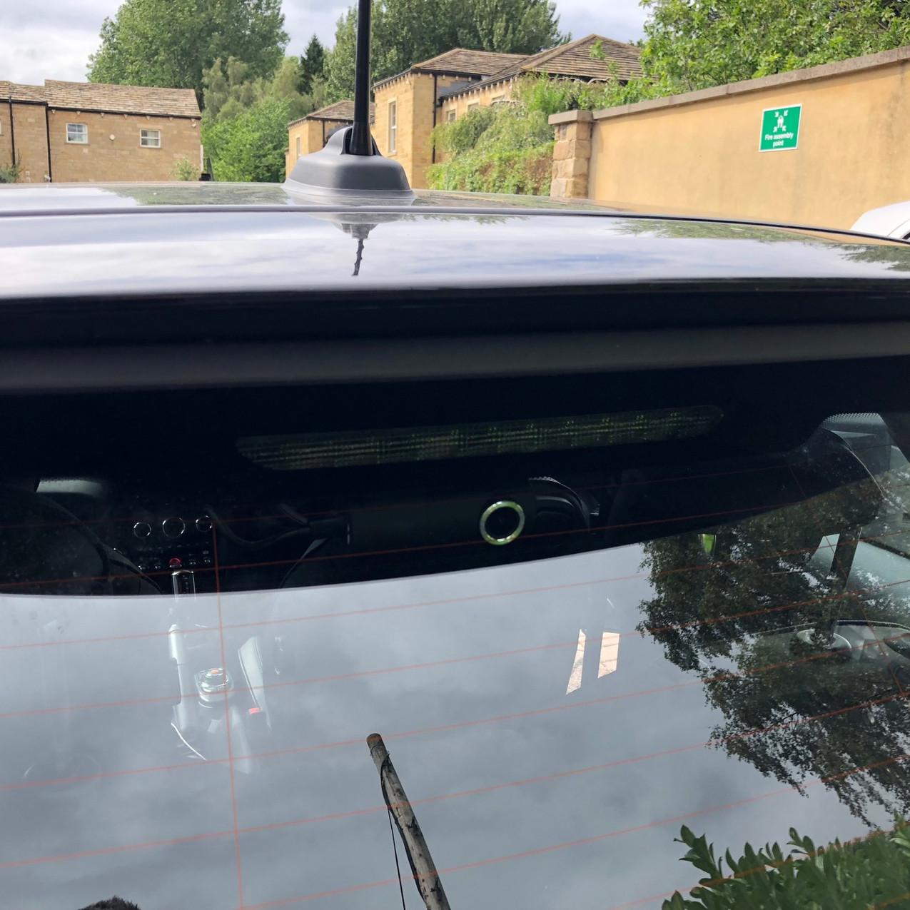 Rear Mini Dashcam in a BMW Mini
