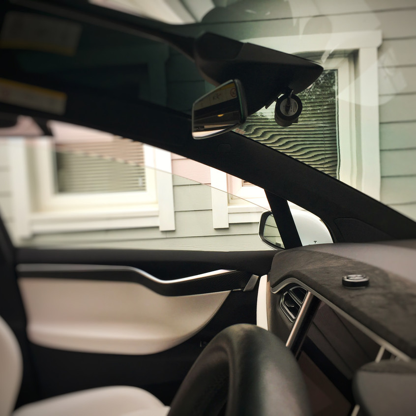 Tesla Model X Dashcam Installation Goluk T1 T3 Newton Abbot Devon