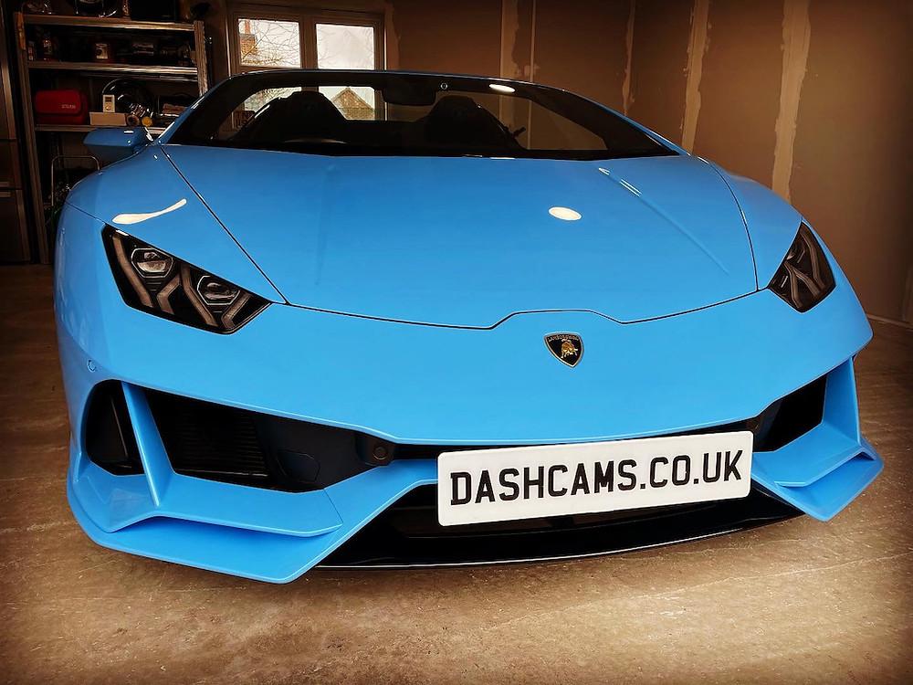 Lamborghini Huracan dash cam