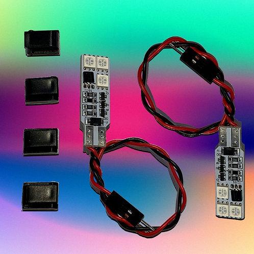 Multicoloured courtesy LED - Wireless remote control