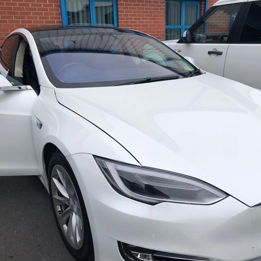 Tesla Dashcam Manchester Install Front discrete Goluk Camera