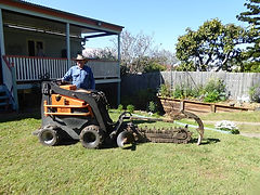 John telfer mini diggers carrys out general excavation and earthworks using a mini loader (just like a dingo) and a excavator.