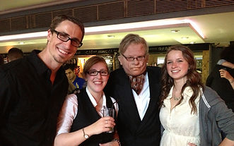 John, Harper and I with the mysterious 'West End Producer'
