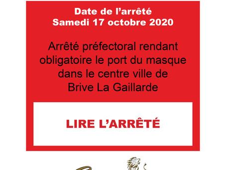 ARRÊTÉ PREFECTORAL DU 17 OCTOBRE 2020 - 1
