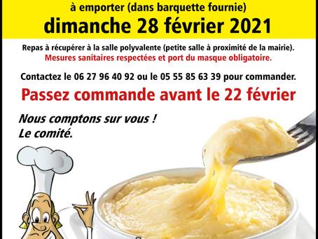 ALIGOT / SAUCISSE LE 28 FEVRIER 2021 A ST-GERMAIN