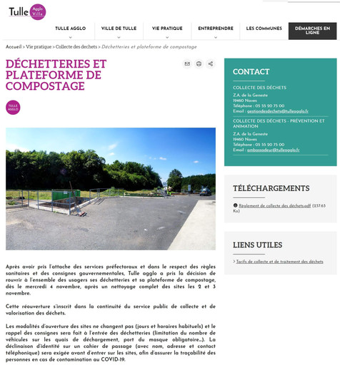 REOUVERTURE PLATEFORME DE COMPOSTAGE LE 4 NOVEMBRE