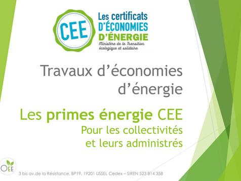 TRAVAUX D'ECONOMIES D'ENERGIE