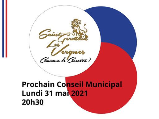 PROCHAIN CONSEIL MUNICIPAL LE 31 MAI 2021 - 20H30