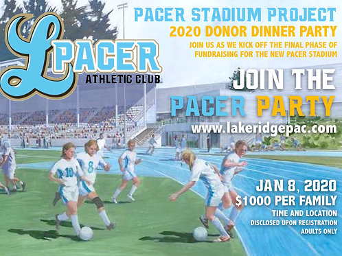 Platinum Pacer $2000 Stadium Donation