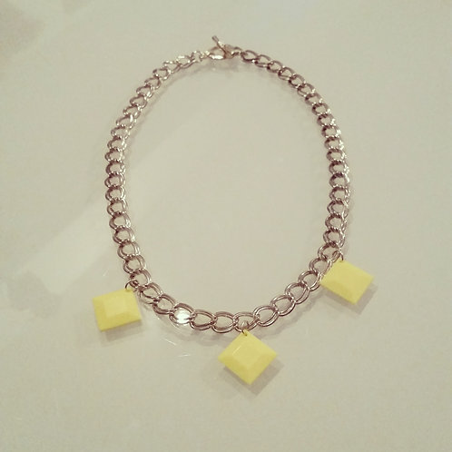 Vintage Yellow Chain Necklace