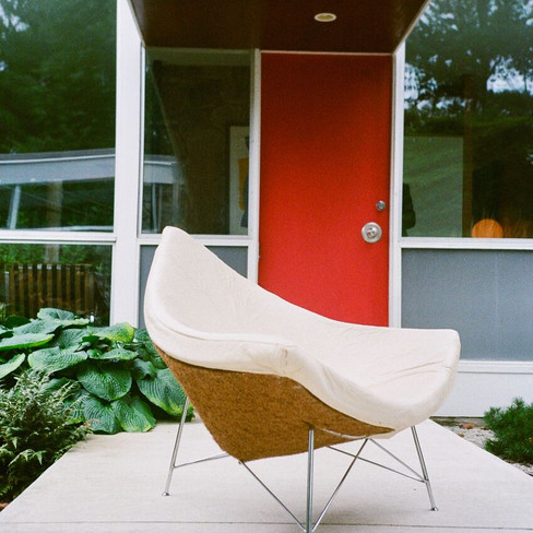 drew veloric coconut chair