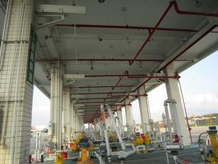 Explosion-proof LED Light installation at Petroleum Storage Station