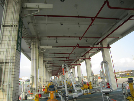 Explosion-proof LED Light installation at Petroleum Storage Station