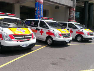 The ambulance No. 20, 21 and 22 are in service.