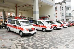 Donation ceremony for 4 ambulances