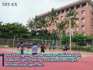 Helping the University to Rebuild the Bright! THT-EX Waterproof LED Lights Donation.