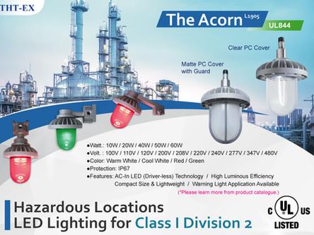 新產品! 防爆LED燈L1905,通過UL防爆認證,適用於CID2危險區域!
