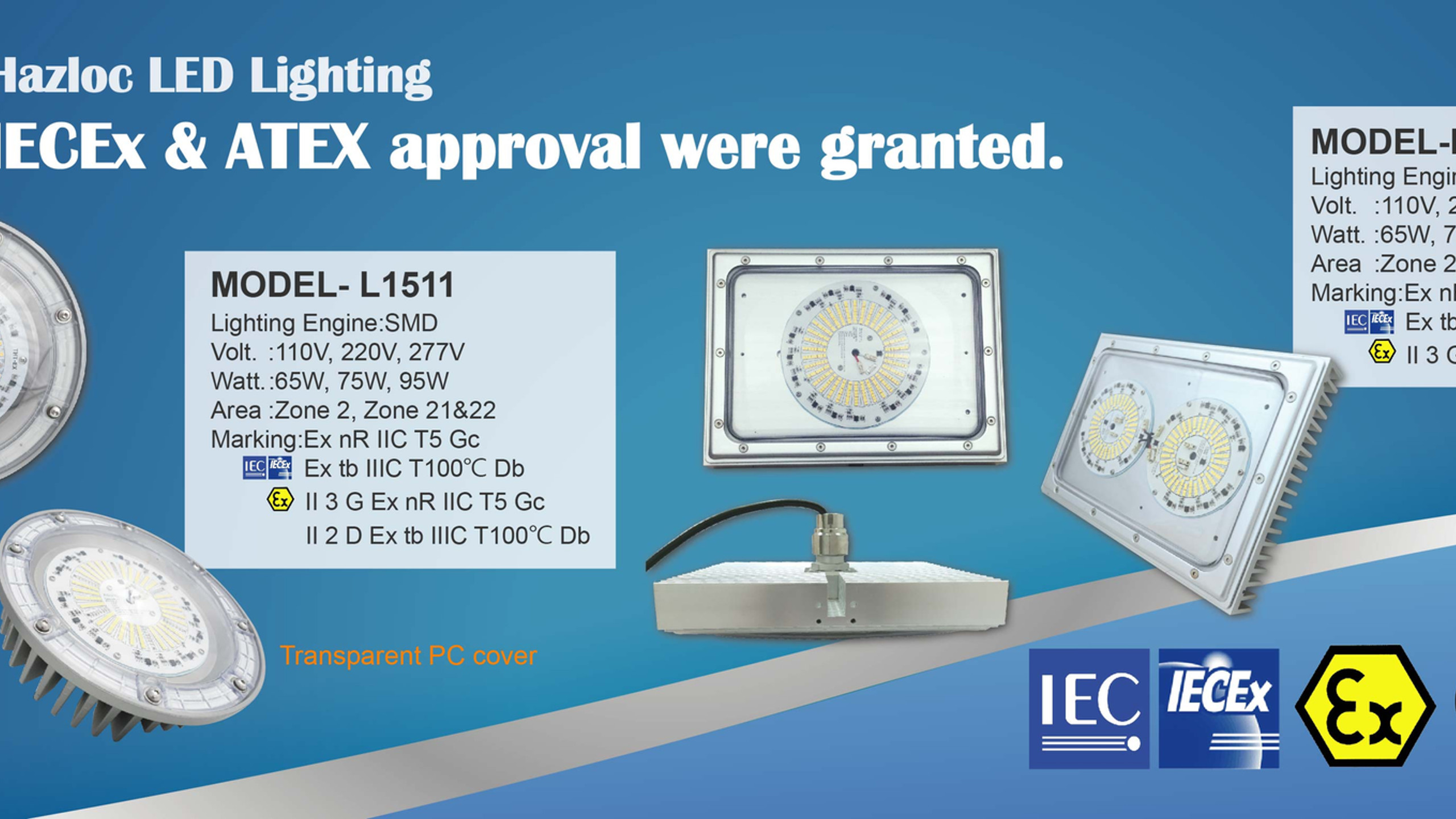 L1511&L1403AS-IECEx,ATEX Certified