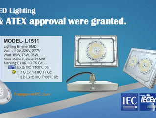 THT-EX model No. L1511 and L1403AS were granted IECEx and ATEX Explosion-proof certifications!