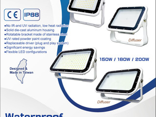 New Product - Waterproof LED Flood Light 75W~1200W