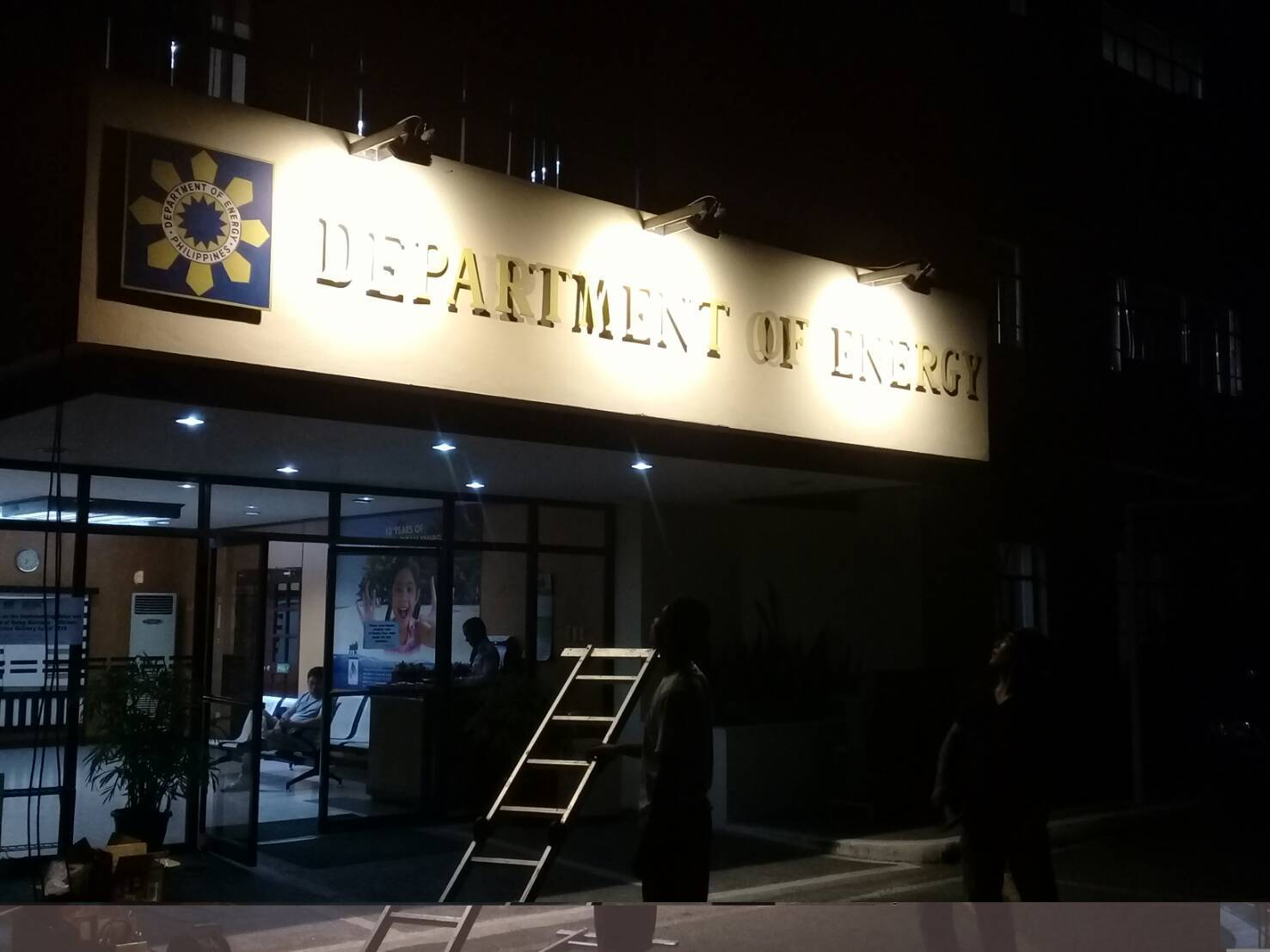 Philippines Department of Energy(DOE) Entrance installed THT-EX Lighting.