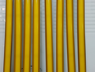 Yellow illumination for Lithography