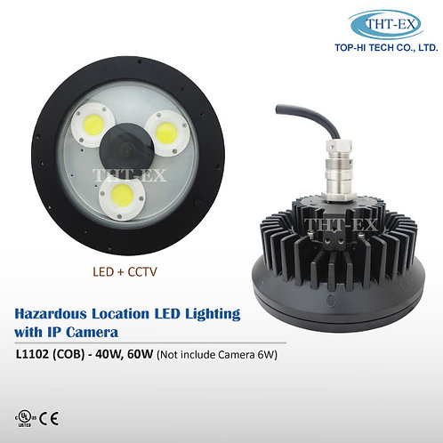 Hazardous Location LED Light with IP Camera L1102 (COB)