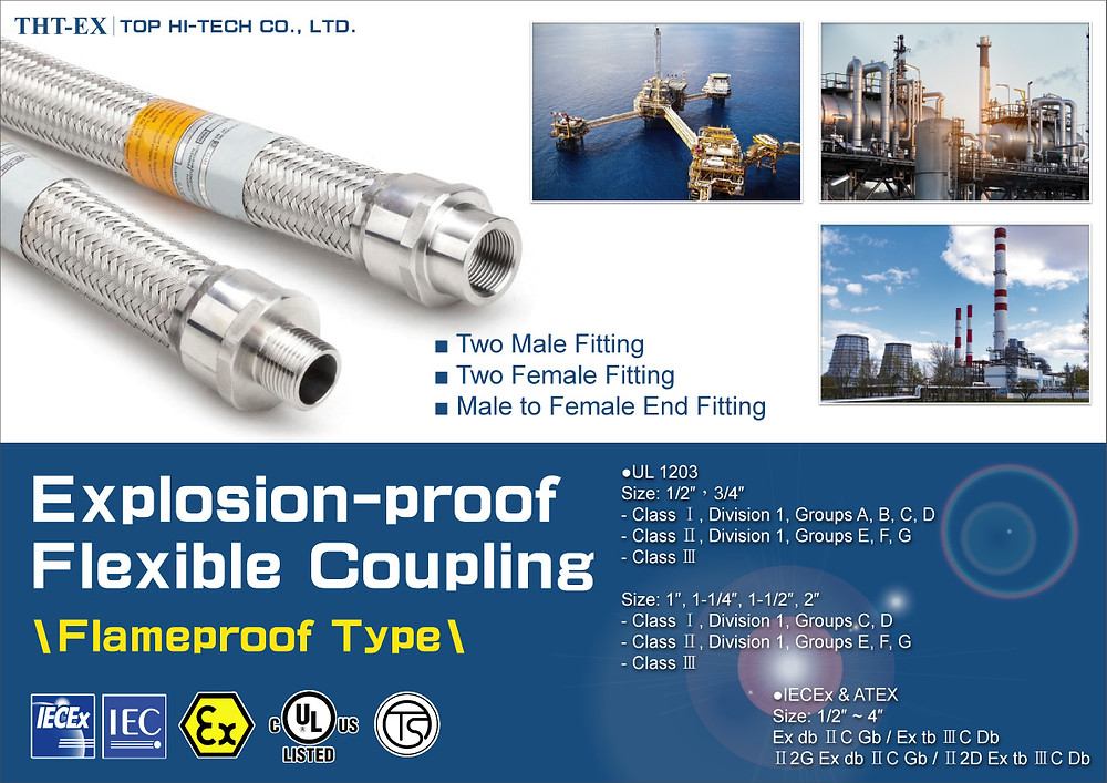 Explosion-proof Flexible Coupling (UL、IECEx、ATEX Certified)