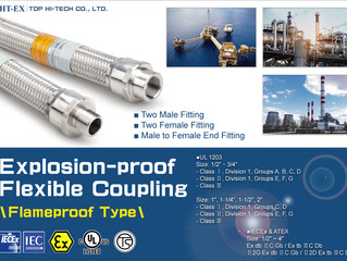Flameproof Type Explosion-proof Flexible Coupling with A Variety of Threads for Choice. (UL&IECEx)