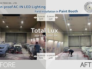 Installation Case Sharing: Illumination Improvement in Paint Booth!