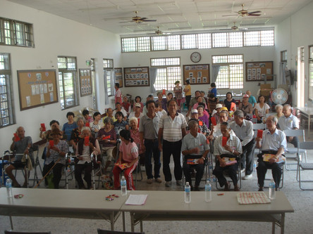 The activity for elderly people.