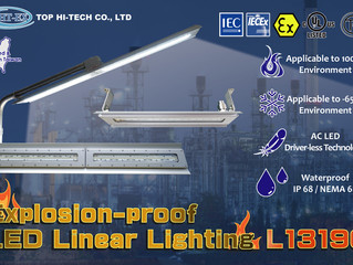 Explosion-proof LED Linear Lighting L1319C was granted Taiwan explosion-proof certification!