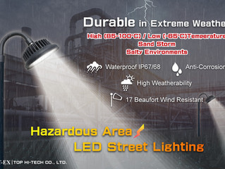THT-EX Explosion-proof LED Street Lights are Durable in Extreme Weather!