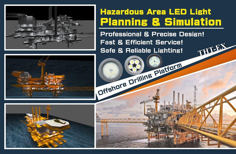 Lighting Planning & 3D Simulation of Offshore Drilling Platform.