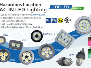 Why do most THT-EX lights use COB light sources?
