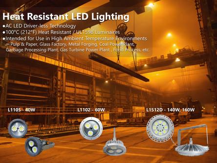 全球第一款無驅動器、可耐高溫100度的LED燈具!