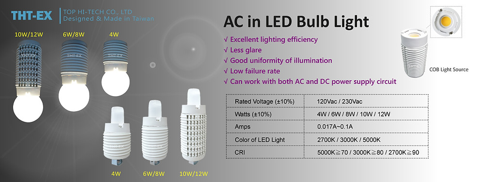 LED Bulb Light_THT-EX
