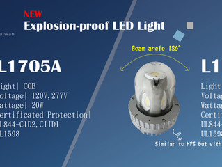 186-degree omnidirectional projection of explosion-proof LED lighting (UL844 C1.D2)