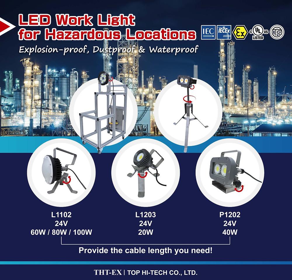 THT-EX Portable LED Work Lights for Hazardous Locations