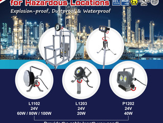 Portable LED Work Lights for Hazardous Locations-Lightweight & High Luminance!