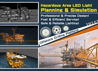 海上鑽油平台的照明規劃與3D模擬,提供完整、精確的照明解決方案!
