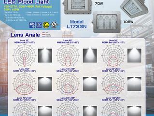 New Product! Hazardous Location LED Lighting Meets NEMA Beam Angle Standard-Model L1733N.