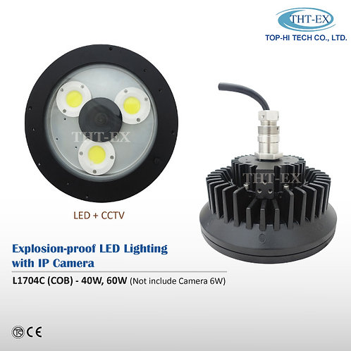 Explosion-proof LED Light with IP Camera L1704C (COB)