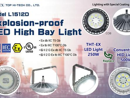 新產品-大瓦數防爆天井燈L1512D通過IECEx與ATEX防爆認證!