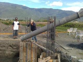THT-EX sponsors an east community to build a pavilion