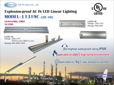 UL844 Certified Explosion-proof LED Linear Light L1319C